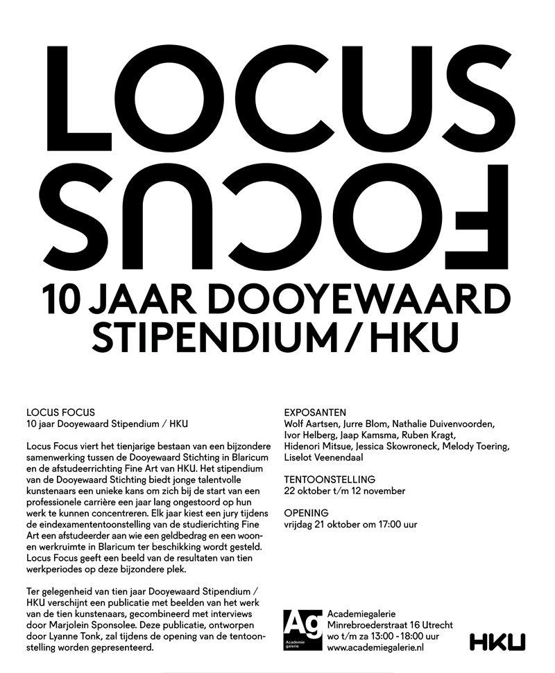 LOCUS FOCUS 10 jaar samenwerking mat de HKU