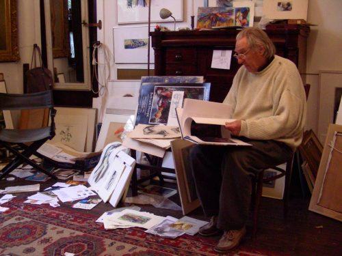 Bob ten Hoope in zijn Blaricumse atelier